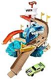 Hot Wheels- Playset lo Squalo sta Attaccando, Pista con Macchinina Cambia Colore, Giocattolo per Bambini 4+Anni, BGK04