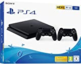 Sony PS4 Console Slim 1TB + 2 Controllers Dual Shock 4 Colore Nero Nuovo chassis F