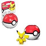 Mega Construx- Pokemon Mini Pikachu Assemblabile con Pokeball Giocattolo per Bambini 6+ Anni, GKY69