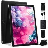 Tablet 10 Pollici Più Recente Android 10.0: Tablet PC MEBERRY Multi-Accessori con 4 GB di RAM + 64 GB di ROM con Processore Quad-Core- Dual SIM | 8000mAh | WIFI | GPS | Doppia Fotocamera, Nero