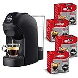 Lavazza A Modo Mio, Macchina Caffé Espresso Tiny Con 64 Capsule Qualità Rossa Incluse, Macchinetta A Capsule Per Un Caffè A Casa Come Al Bar, 1450 W, 0.75 Litri, Colore Nero