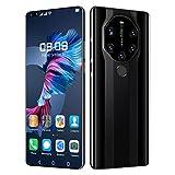 AYZE Smartphone 4gb RAM Schermo Intero da 7,3', Fotocamera da 25-50 MP, Batteria da 6800 mAh, Sblocco con Impronta Digitale, Doppia Scheda, Telefono Cellulare Android 10 + Memoria Estesa 128GB Black