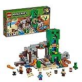 LEGO Minecraft La Miniera del Creeper, Set da Costruzione con Minifigura di Steve, il Fabbro, uno Zombie Secco, Creeper e Animali, più gli Elementi TNT, 21155