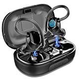 LYCHL Cuffie Bluetooth Sports, Auricolari Bluetooth 5.0 Senza Fili, in Ear Impermeabile Hi-Fi Stereo con Microfono, 100H Riproduzione Auricolari Wireless con Display LED per in Correre Workout, Gym