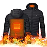 Doneioe Giacche da Esterno riscaldanti USB Giacche Invernali Flessibili Abbigliamento Termico Elettrico Maniche Lunghe Pesca Escursionismo Vestiti Caldi