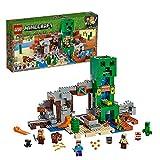LEGO Minecraft LaMinieradelCreeper, Set da Costruzione con Minifigura di Steve, il Fabbro, uno Zombie Secco,Creeper e Animali, più gli Elementi TNT, 21155