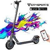 CITYSPORTS Monopattino Elettrico con 8,5 Pneumatici, E-Scooter Pieghevole, Bluetooth e Batteria a Lungo Raggio, Scooter Elettrico per Adulti Ultraleggero,Monopattino Elettrico