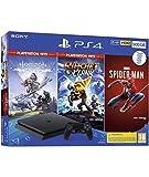 PlayStation 4 500 GB (PS4) + Spiderman + Horizon Hits + R&C Hits [Edizione: Spagna]