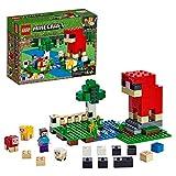 LEGO Minecraft LaFattoriadellaLana, Set da Costruzione Avventuroso con le Figure delle Pecore e la Minifigura di Steve, 21153