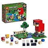 LEGOMinecraftLaFattoriadellaLana,SetdaCostruzioneAvventurosoconleFiguredellePecoreelaMinifiguradiSteve,21153